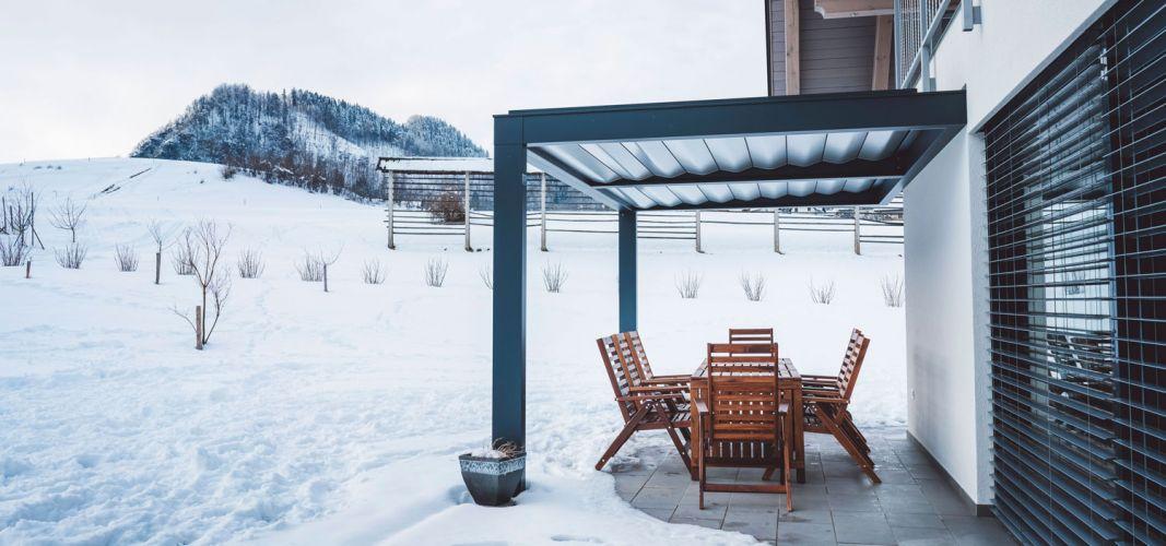 kvalitetna pergola zdrži tudi meter snega